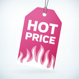 HOT PRICE label tag Royalty Free Stock Images