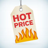 HOT price realistic paper tag Royalty Free Stock Photo