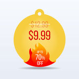 Hot Price. Special offer sale tag discount symbol retail sticker sign price. VECTOR. Stock Photography