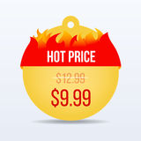Hot Price. Special offer sale tag discount symbol retail sticker sign price. VECTOR. Royalty Free Stock Photos