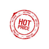 Hot price stamp. Vector hot price red stamp royalty free illustration