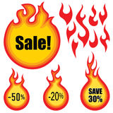Hot price stickers set. Sale label  set.  Hot price stickers collection Royalty Free Stock Photography
