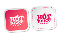 Hot price stickers Stock Image