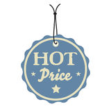 Hot price tag royalty free stock photography