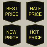 Hot price tags set. Stock Images
