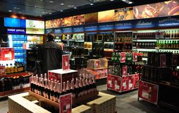Free Hot Prices Best Sellers In The Duty Free At Zürich-Airport Are Stock Image - 131244571