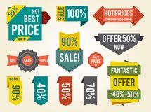 Hot Prices Sale Clearance Vector Illustration Royalty Free Stock Photo