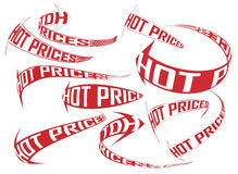 Hot prices shopping direction vector arrows set Stock Images