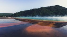 Hot prismatic spring Yellowstone National Park Wyoming Royalty Free Stock Images