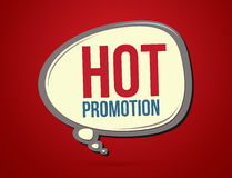 Hot promotion text. In balloons graphic vector Stock Photography
