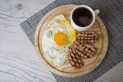 Hot protein breakfast Stock Photos