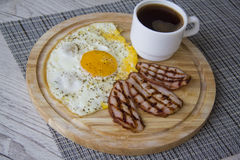 Hot protein breakfast Stock Photo