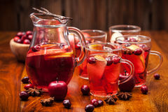 Hot punch for winter and Christmas Royalty Free Stock Photography