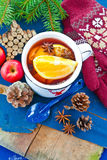 Hot punch for winter Stock Photos