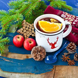 Hot punch for winter Stock Photo