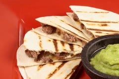 Hot quesadilla gourmet style Royalty Free Stock Photo