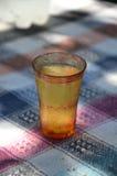 Hot  rakia inj a cold glass Royalty Free Stock Photo