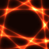 Hot red chaotic lines on dark background template Stock Images