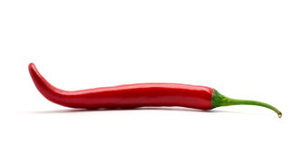 Hot red chili or chilli pepper Stock Photos