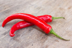 Hot red chili or chilli peppers. stock images
