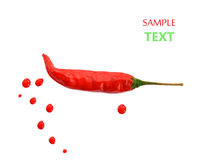 Hot red chili pepper. concept of spicy food. Red color. Stock Photo