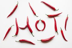 Hot red chili peppers Royalty Free Stock Photography