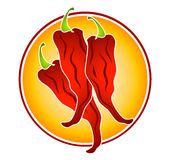 Hot Red Chili Peppers Clip Art Stock Photography