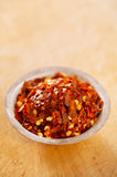 Hot Red Chilli Chillies pepper crushed Royalty Free Stock Photos