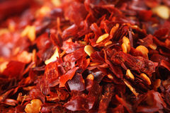 Hot Red Chilli Chillies Pepper Crushed Royalty Free Stock Image