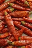 Hot Red Chilli Chillies Peppers Closeup. A closeup of Red Chilli Chillies Peppers dried Stock Photos