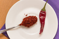 Hot Red Chilli pepper  crushed Royalty Free Stock Photos
