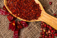 Hot Red Chilli pepper crushed Royalty Free Stock Photo