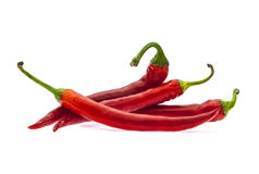 Hot red chilli peppers Stock Photos