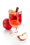 Hot red drink with apple and cinnamon Royalty Free Stock Photo