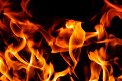 Hot red flames. Closeup shot of some red flames Royalty Free Stock Images