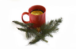 Hot red mulled  christmas wine, Nov 14, 2014 Stock Photography