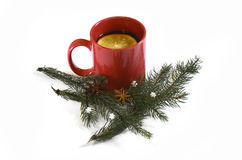Hot red mulled  christmas wine, Nov 14, 2014 Stock Photos