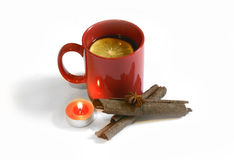 Hot red mulled  christmas wine, Nov 14, 2014 Royalty Free Stock Images