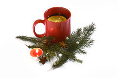 Hot red mulled  christmas wine, Nov 14, 2014 Royalty Free Stock Photos