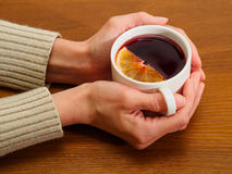 Hot red mulled wine Royalty Free Stock Photo
