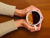 Hot red mulled wine Royalty Free Stock Image