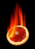 Hot red orange Stock Image