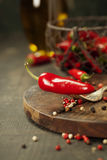 Hot red pepper Stock Photo