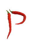Hot red pepper isolated on a white. Background Stock Images