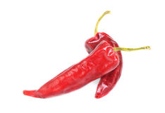 Hot red pepper isolation on white Stock Images