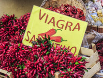 Hot red pepper in a market Royalty Free Stock Images