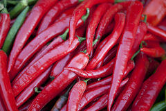 Hot Red peppers background Royalty Free Stock Image