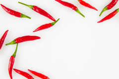 Hot red peppers background Stock Photography