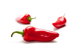 Hot red peppers or Fresno Royalty Free Stock Images