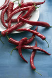 Hot red peppers Stock Photo